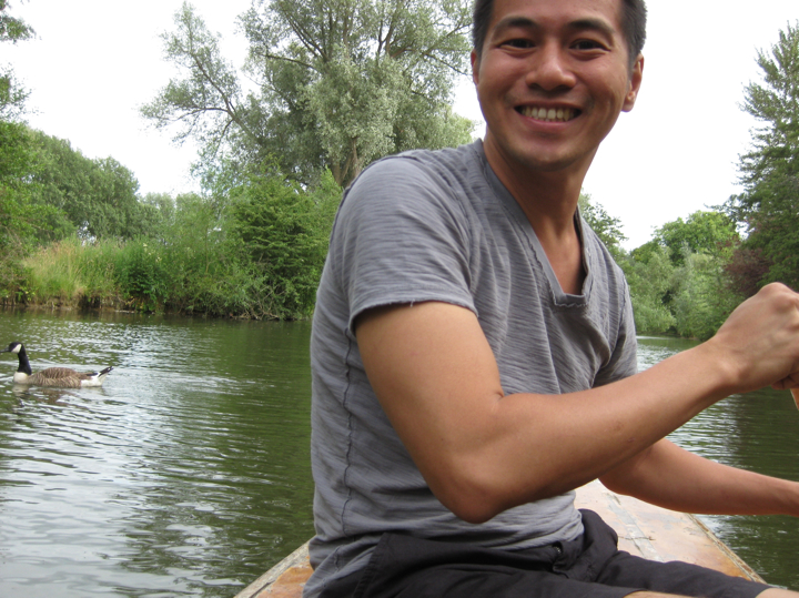 Punting on the River Cherwell in Oxford, 2010